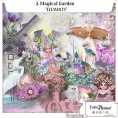 June flavour - elements a magical garden de kittyscrap