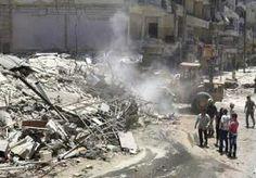 16-Jun-2014 14:54 - TIENTALLEN DODEN IN ALEPPO NA LUCHTAANVAL MET BOMVATEN. Bij een luchtaanval in de Noord-Syrische stad Aleppo zijn vandaag zeker twintig mensen om het leven komen, onder wie ook kinderen. Dat meldt het...