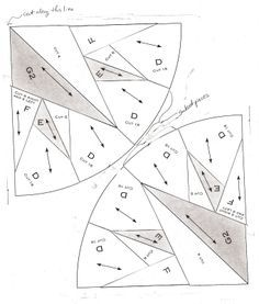 mariner's compass quilt block pattern - Google Search