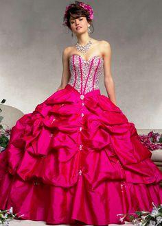 40 Vestidos de 15 años largos y cortos en color rosa - http://vestidosglam.com/40-vestidos-de-15-anos-largos-y-cortos-en-color-rosa/