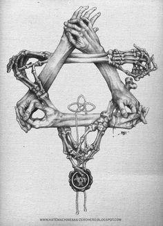 Illustration inspiration gallery from up north original Art Sketches, Art Drawings, Satanic Art, Occult Art, Occult Tattoo, Desenho Tattoo, Arte Horror, Wow Art, Skull And Bones