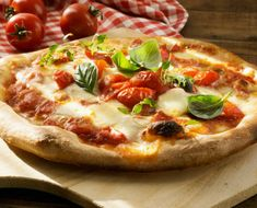 Fresh Homemade Italian Pizza Margherita Stock Photo (Edit Now) 739247935 Pate A Pizza Fine, Mozzarella, 2 Ingredient Recipes, Spanish Dishes, Curry Dishes, Best Dishes, Dinner Dishes, Italian Dishes, Stuffed Hot Peppers