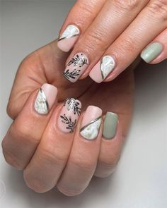 45 Fall Nails Designs & Colors Ideas For 2021 - Soflyme Fall Manicure, Manicure Colors, Fall Nails, Fall Nail Art, Fall Nail Colors, Matte Nails, Acrylic Nails, Long Gel Nails, Hot Nails