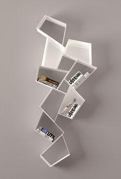 Floating metal #bookcase W SU LINE etimodesign Collection by @rondadesignsrl | design Diego Collareda