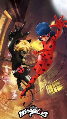 Ladybug Y Cat Noir, Meraculous Ladybug, Lady Bug, Miraculous Wallpaper, Miraculous Ladybug Fan Art, Marinette And Adrien, My Hero Academia Manga, Cover Pages, Superhero