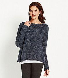Eileen Fisher Twisted Silk Knit Sweater #Dillards