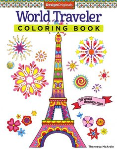 Wold Traveler Adult Coloring Book