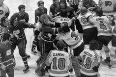 The Broad Street Bullies, Philadelphia Flyers a terrible era in Hockey shitheads who couldn't even skate properly whose only skill was hooliganism Flyers Hockey, Hockey Rules, Hockey Teams, Hockey Players, Ice Hockey, Hockey Stuff, Sports Teams, Flyers Players, Stars Hockey