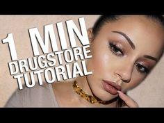 1 MINUTE DRUGSTORE MAKEUP TUTORIAL - YouTube