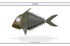 Terrorfish by WS-Clave on deviantART Joe 90, Thunderbird 1, Fantasy Craft, Space Fighter, Thunderbirds Are Go, Uk Tv, Fantasy Fiction, Silver Wings, Engine Types