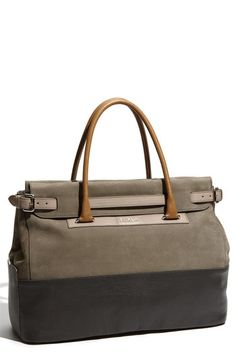Furla 'Laila' Belted Leather Shopper - i would kill for this purse.
