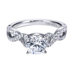 Totally in love!  Gabriel 14K White Gold Contemporary Criss Cross Engagement Ring  Style ER7805W44JJ