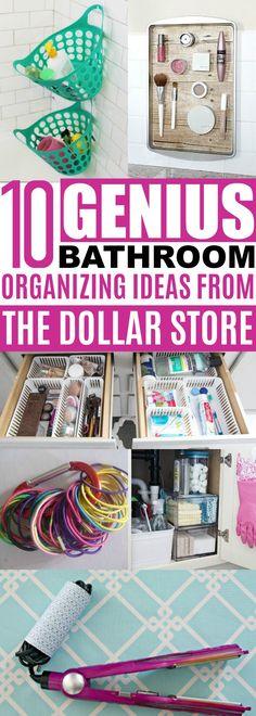 Bathroom Organizing Ideas Dollar Store, Cheap Organization Ideas For The Home