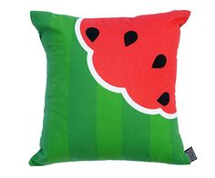 Watermelon Cushion / Pillow - Red & Green Tropical Fruit Cushion - Homeware - Home Accessories