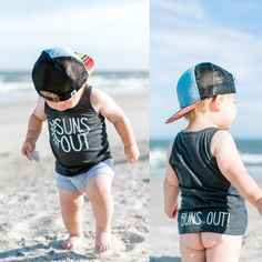 """""""Suns Out Buns Out"""" Baby - Toddler Tank – Happy Jax Apparel Baby Boy Shoes, Baby Boy Outfits, New Baby Pictures, Funny Pictures, Trendy Baby Clothes, Diy Clothes, Babies Clothes, Babies Stuff, New Baby Boys"""