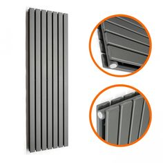 1780 x 490mm Anthracite Double Flat Panel Vertical Radiator