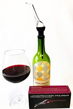 Deluxe Wine Aerator Pourer  Decanter Enhance the Flavor of Wine Instantly While Pouring -- Click on the image for additional details.
