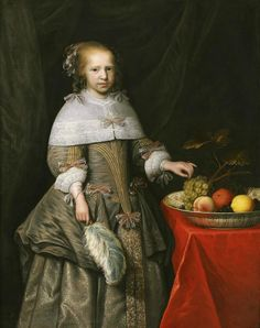 Jan Albertsz Rotius, Portrait of a 8-year-old Girl, 1660 - Westfries Museum Hoorn