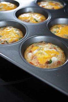 This recipe makes 12 bite-size servings, about 40 calories each. These are a great way to get your protein in the morning. Ingredien...