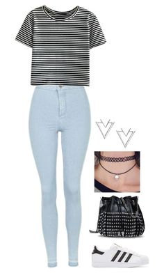 """XXII"" by rhay-q ❤ liked on Polyvore featuring Topshop, WithChic, Nadri, adidas Originals and STELLA McCARTNEY"
