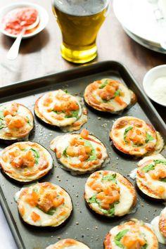 Eggplant Pizza Bites - Primavera Kitchen Use nut cheese to make it vegan