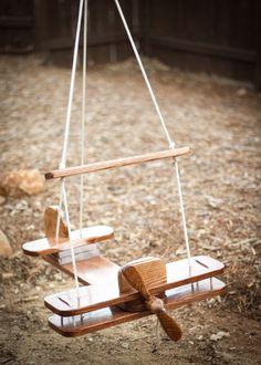 Kid's Outdoor Airplane Swing. $89.00, via Etsy.