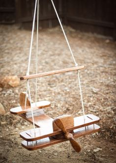 Kid's Outdoor Airplane Swing