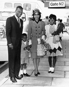 Nat King Cole with his family, including little Natalie Cole. Reunited in peace.