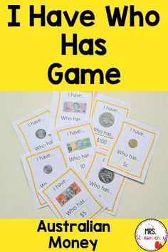 Help students learn Australian currency with this fun I have Who has game. Use in math centers or first thing in the morning as review. Students work with classmates to discuss and name different Australian money. Number Recognition Activities, Australian Money, Curriculum Design, Primary Resources, Australian Curriculum, Phonics Activities, Help Teaching, Student Work, Student Learning