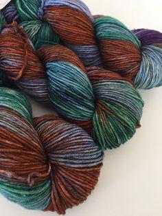 Hand dyed superwash merino DK yarn - Forest Floor
