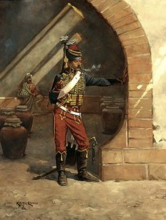 Hussar of the French 7th Hussars in Egypt - 1799