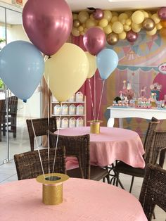 Carnival Themed Party, Carnival Birthday Parties, Circus Birthday, Circus Party, Birthday Party Decorations, Carousel Party, 1st Birthday Party For Girls, Alice In Wonderland Birthday, Donut Party