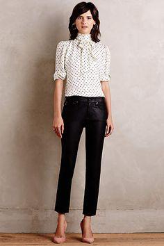 AG Beau Leather Jeans - anthropologie.com