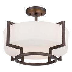 Morlaix Ceiling Semi Flush Light | Minka Lavery at Lightology