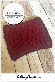 Knit Look Crochet Cowl - quick & simple pattern