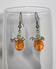 Lovely pumpkin earrings-- just in time for Fall! #earrings #pumpkins $8.00