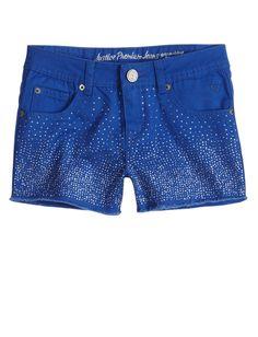 Allover Embellished Denim Shorts   Shorts   Half Sizes   Shop Justice