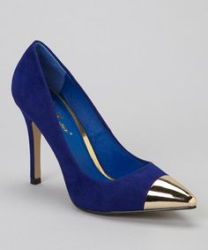 Take a look at this Blue Teresa Pump by Mixx Shuz on #zulily today!