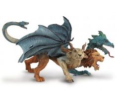 Chimera- 3-Headed Monster; dragon, goat and lion head (I have to crochet 5 of these )