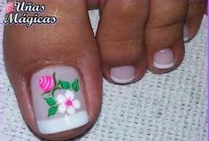 Cute Toe Nails, Cute Toes, Toe Nail Art, French Pedicure, Manicure And Pedicure, Nail Art Designs, Hair Beauty, Lily, Tattoos