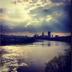 View of Downtown Pittsburgh from Hot Metal Bridge http://www.lifepopularclothing.com/jump-juniors-sheer-sequin-gown.html