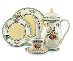 Villeroy and Boch French Garden- gorgeous, durable porcelain dinnerware Casual Dinnerware, Orange Pattern, China Plates, Homekeeping, Coffee Set, Coffee Cups, Dinner Sets, China Patterns, China Porcelain