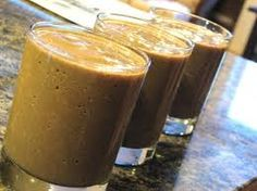 Fat-Burning Mocha Madness  In a blender, mix ½ cup of cold water (you can add more or less water depending on the consistency you prefer).  Add 2 scoops of nutrient-rich chocolate-flavored protein powder.  Add 1 tsp of granulated instant coffee.  Gradually add 5 ice cubes to thicken.  Blend on high for one minute (in a pinch, this shake can also be made by simply mixing ingredients together in a glass with a spoon).  Drink yourself skinny!