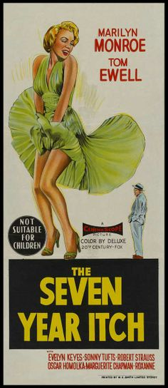 The Seven Year Itch | Australian movie poster, 1955.