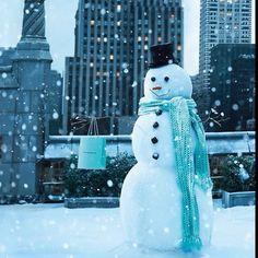 Tiffany Blue Christmas ad,snowman