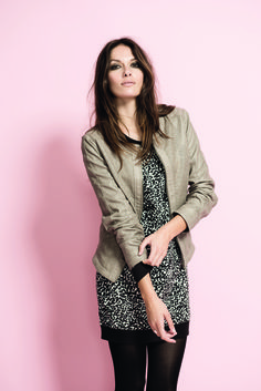 soyaconcept - jacket - leather jacket - dress - tunic - leggings - animal print