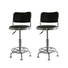Buffalo Tools BS2088SET AmeriHome Adjustable Height Shop Stools (Set of 2) - Home Furniture Showroom