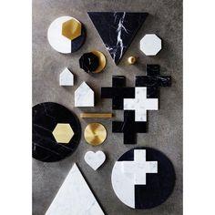 Black Marble Cross Trivet   hardtofind.