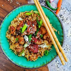 Wednesday dinner sorted! Onion Vegetable, Vegetable Stock, Leftover Pork, How To Cook Pork, Midnight Snacks, Saute Onions, Kung Pao Chicken, Fried Rice, Family Meals