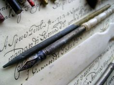 Antique and vintage writing materials